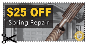 25 dollar off garage spring repair coupon